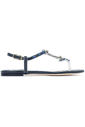67a827f473c9 DOLCE   GABBANA Embellished patent-leather sandals