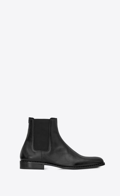 SAINT LAURENT Boots Man montaigne boot in black studded moroder leather a_V4