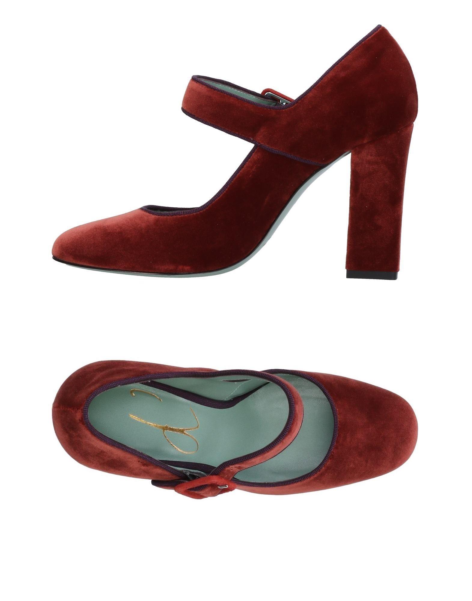 《送料無料》PAOLA D'ARCANO レディース パンプス 赤茶色 40 紡績繊維