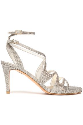STUART WEITZMAN Metallic woven sandals