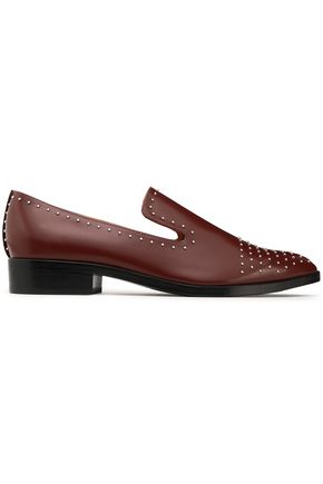 SIGERSON MORRISON Studded patent-leather slippers