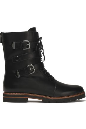 STUART WEITZMAN Buckled leather boots