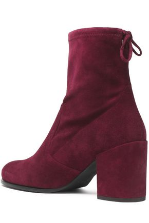 STUART WEITZMAN Bow-detailed suede ankle boots
