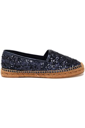DOLCE & GABBANA Sequined leather espadrilles