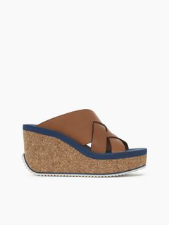 Mina open-toe wedge sandal