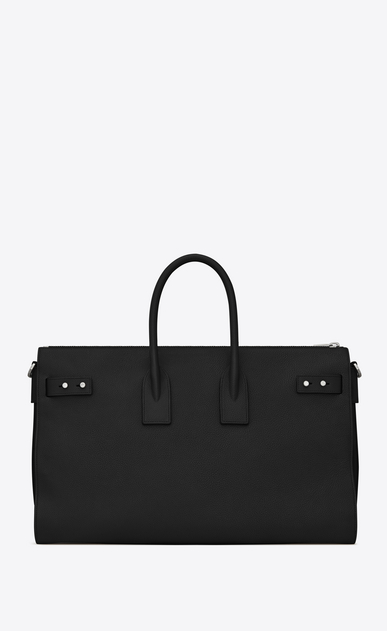 SAINT LAURENT Sac De Jour Supple Woman sac de jour souple duffle 36h bag in black grained leather b_V4