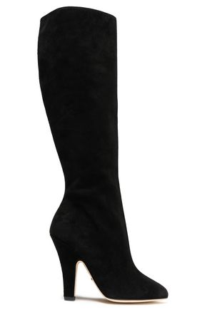 DOLCE & GABBANA Suede knee boots
