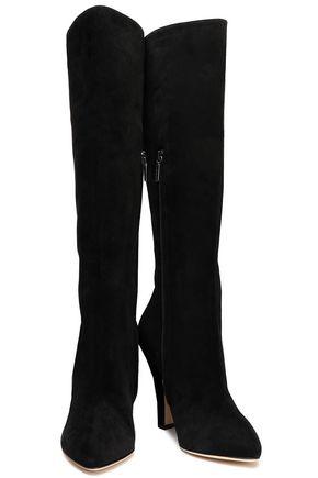 DOLCE & GABBANA Suede knee boots