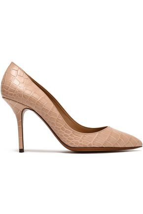 DOLCE & GABBANA Croc-effect leather pumps