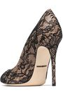 DOLCE & GABBANA Lace and leather pumps