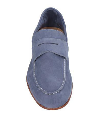 Фото 2 - Мужские мокасины C.WALDORF грифельно-синего цвета