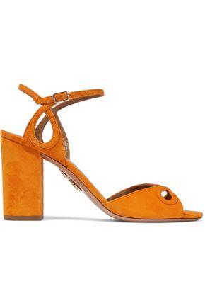 AQUAZZURA Vera cutout suede sandals