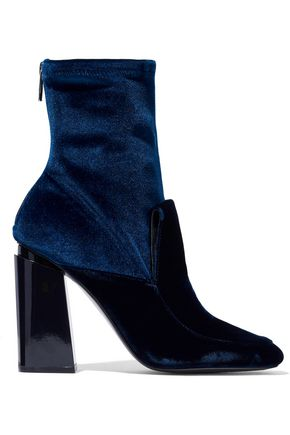 SIGERSON MORRISON Two-tone velvet ankle boots