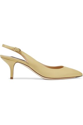 DOLCE & GABBANA Bellucci leather slingback pumps
