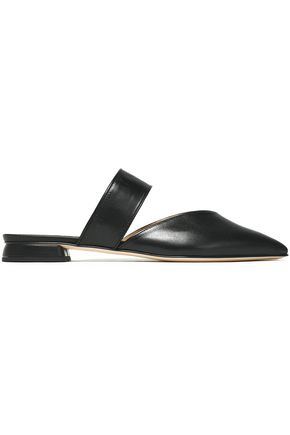 IRIS & INK Leather point-toe flats