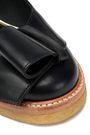 LANVIN Bow-embellished leather ballet flats