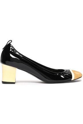 LANVIN Patent-leather and suede pumps