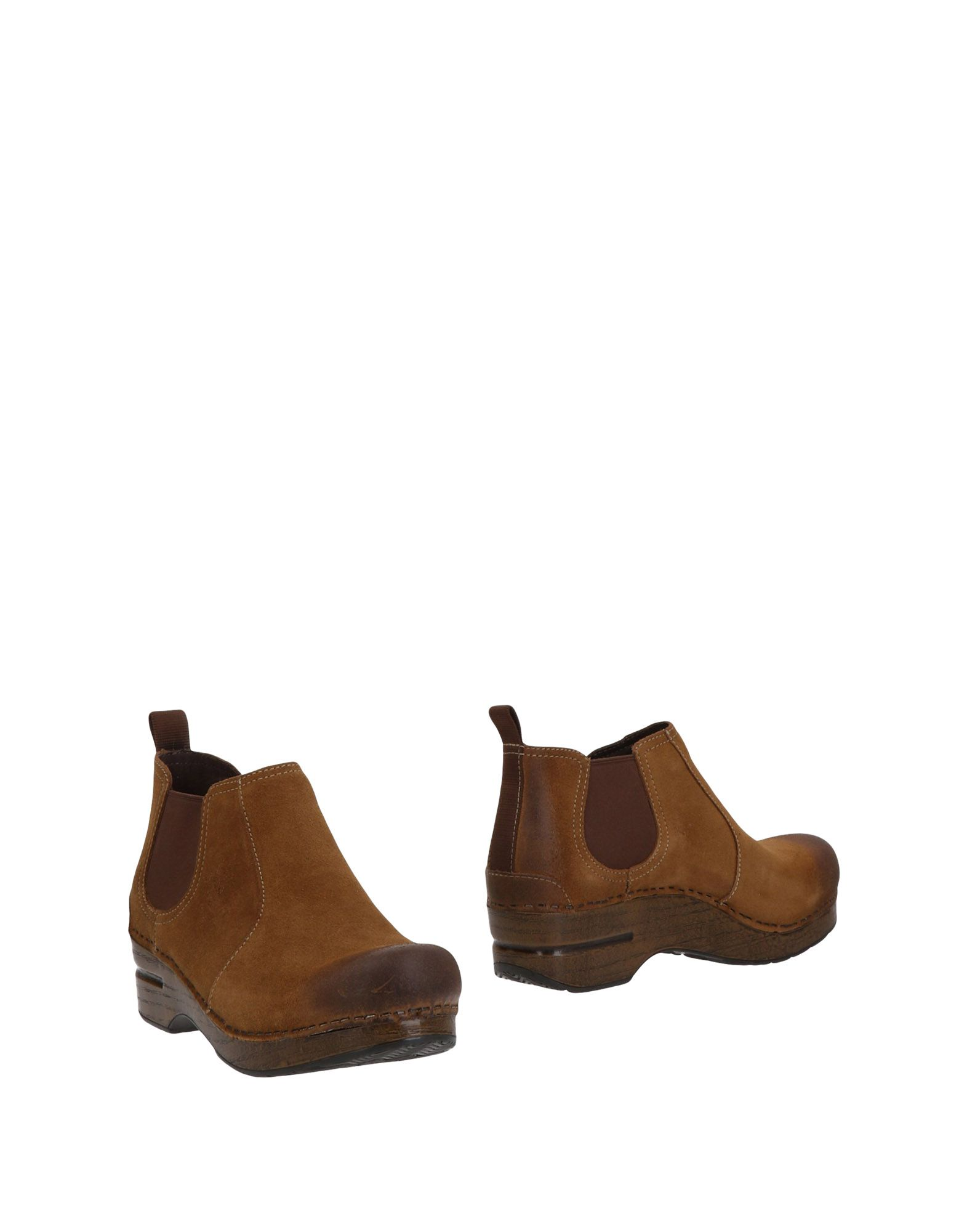 DANSKO Ankle boots. leather, suede effect, no appliqués, solid color, round toeline, square heel, leather lining, rubber cleated sole, contains non-textile parts of animal origin, chelsea boots. Soft Leather