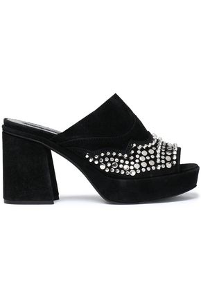 McQ Alexander McQueen Studded suede mules ...