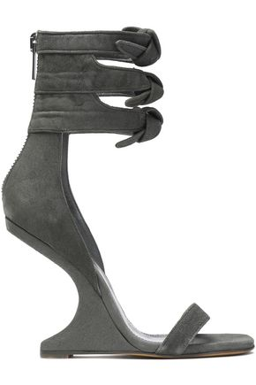 RICK OWENS Knotted suede wedge sandals