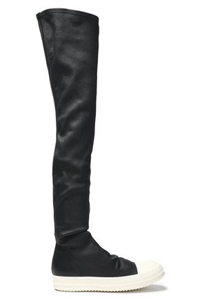 RICK OWENS Stretch-leather over-the-knee sneakers