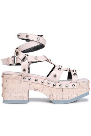 McQ Alexander McQueen Studded leather platform sandals