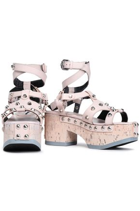 McQ Alexander McQueen Studded leather platform sandals