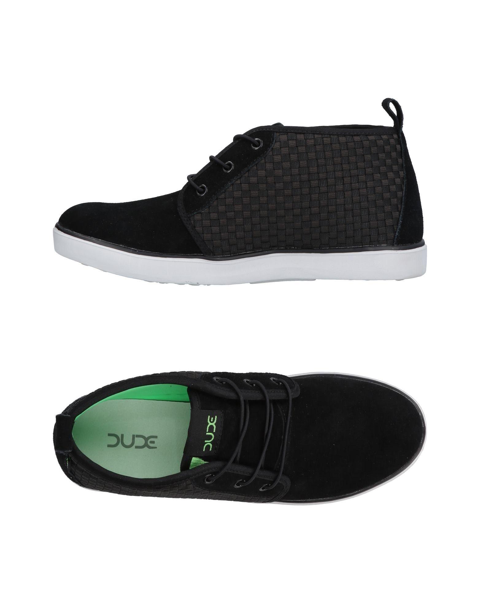 《送料無料》HEY DUDE メンズ スニーカー&テニスシューズ(ハイカット) ブラック 40 革 / 紡績繊維