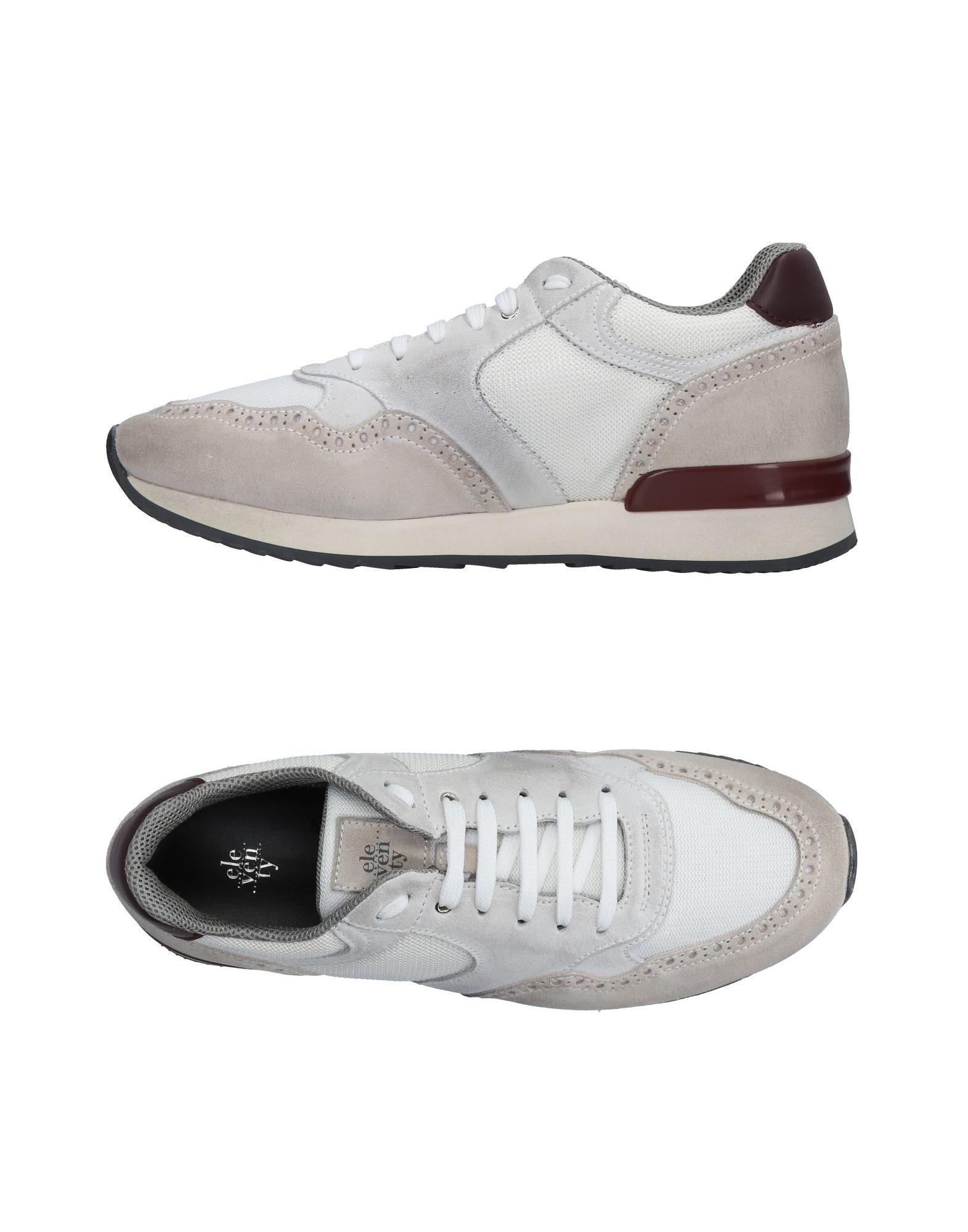 《送料無料》ELEVENTY メンズ スニーカー&テニスシューズ(ローカット) ホワイト 43 革 / 紡績繊維