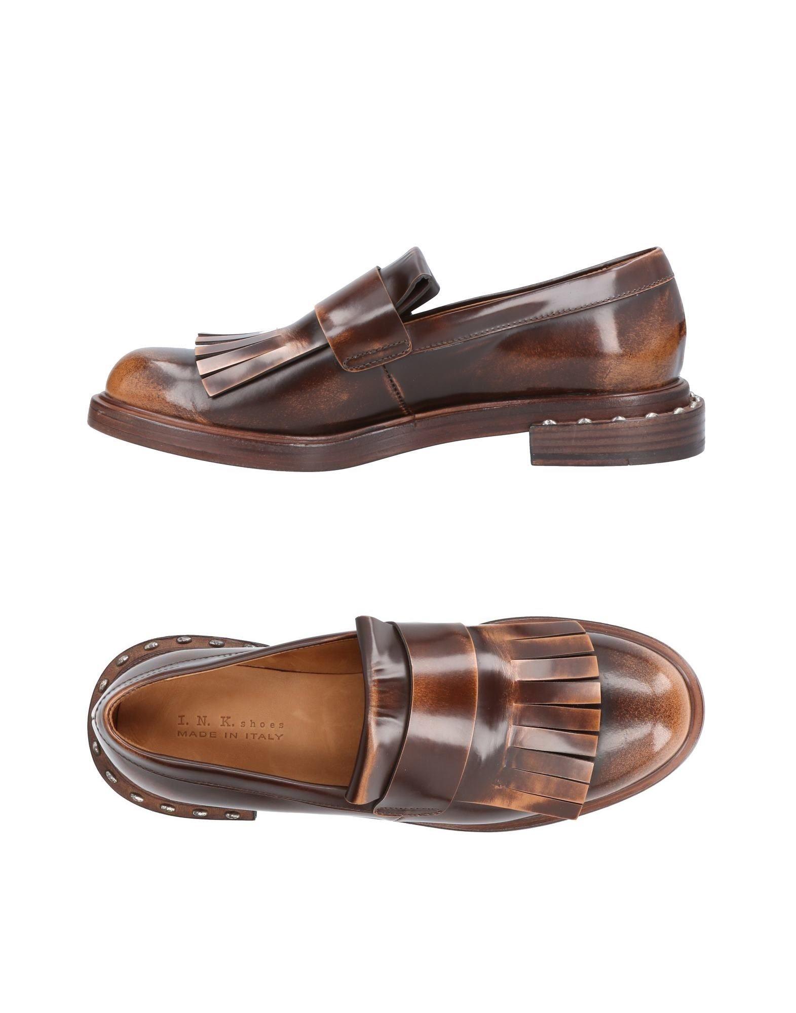 I.N.K. Shoes レディース モカシン ダークブラウン 36 革