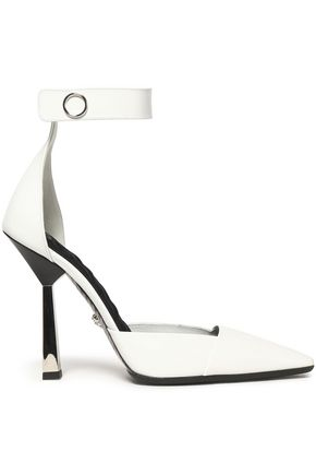 VERSACE Color-block leather pumps