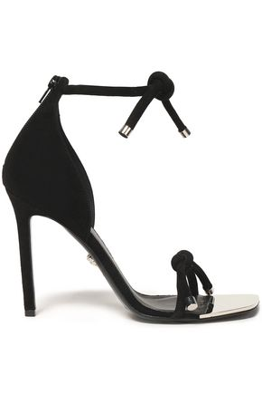 VERSACE Knotted suede sandals