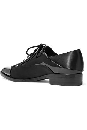 SIGERSON MORRISON Elinor patent leather and satin brogues