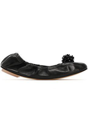 SIMONE ROCHA Embellished leather ballet flats