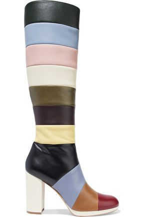 VALENTINO GARAVANI Striped leather boots