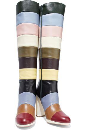 VALENTINO GARAVANI Striped leather boots
