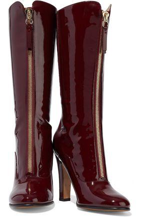VALENTINO GARAVANI Rebel patent-leather boots