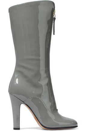 VALENTINO GARAVANI Rebel patent-leather boots