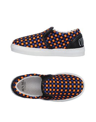 Купить Низкие кеды и кроссовки от MNML COUTURE оранжевого цвета