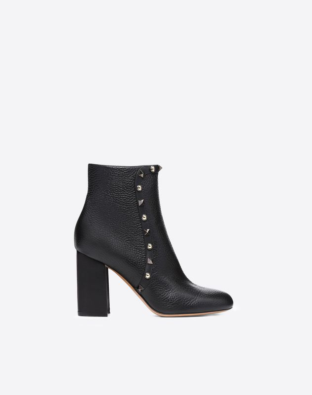 Rockstud Rolling Bootie 90Mm in Black