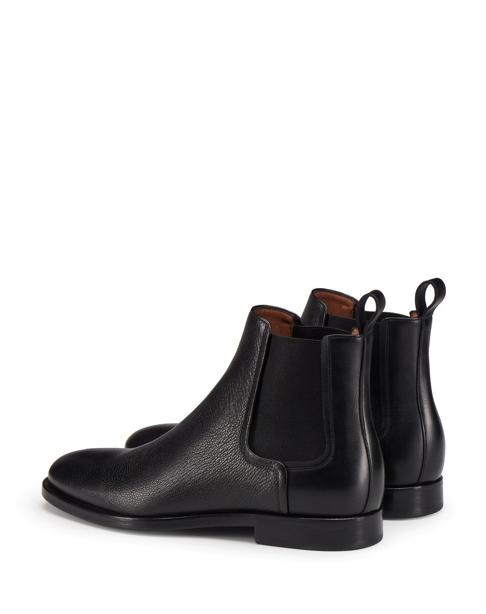 BLACK LEATHER CHELSEA BOOT - Lanvin