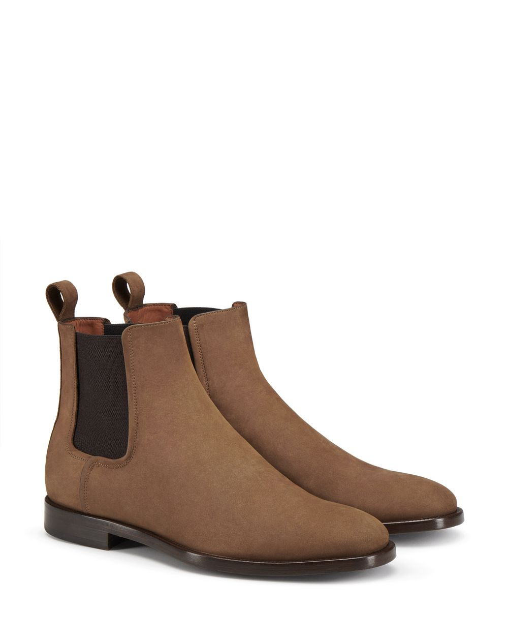 BROWN NUBUCK CHELSEA BOOT - Lanvin
