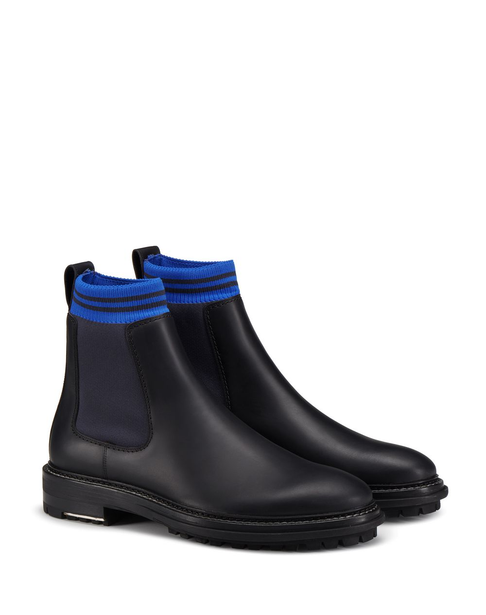 BLACK CHELSEA BOOT WITH SOCK - Lanvin