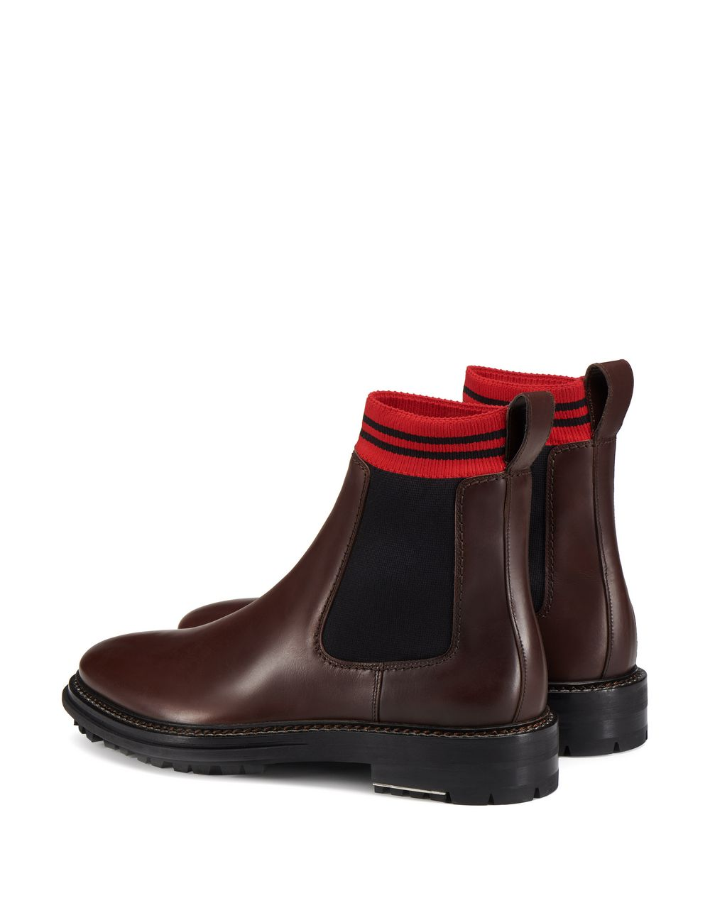 CHOCOLATE CHELSEA BOOT WITH SOCK  - Lanvin