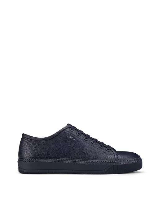LOW-TOP SNEAKER IN GRAINED BULL CALFSKIN - Lanvin
