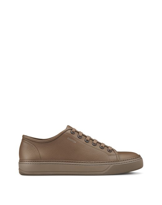 SNEAKERS LOW-TOP IN PELLE DI VITELLO PIENO FIORE - Lanvin