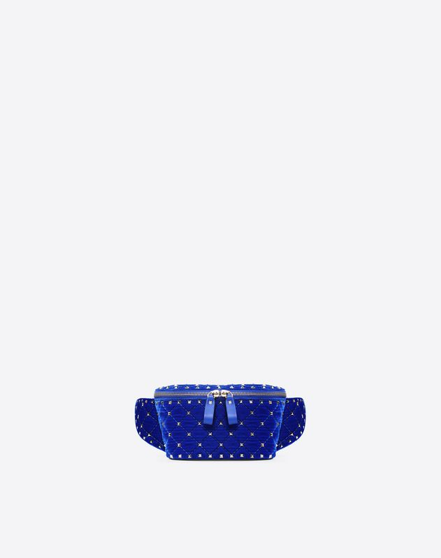 Velvet Rockstud Spike Belt Bag