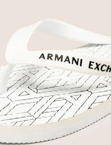 ARMANI EXCHANGE PRINTED FLIP-FLOPS flip-flop Man a