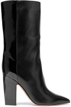 VALENTINO GARAVANI Matte and patent-leather boots