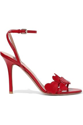 VALENTINO GARAVANI L'Amour appliquéd leather sandals
